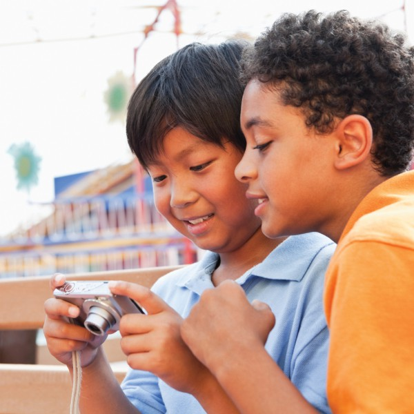 Boys with Digital Camera