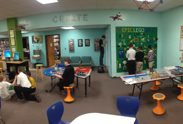 The Makerspace in the library at Stewart Middle Magnet School in Tampa, Florida
