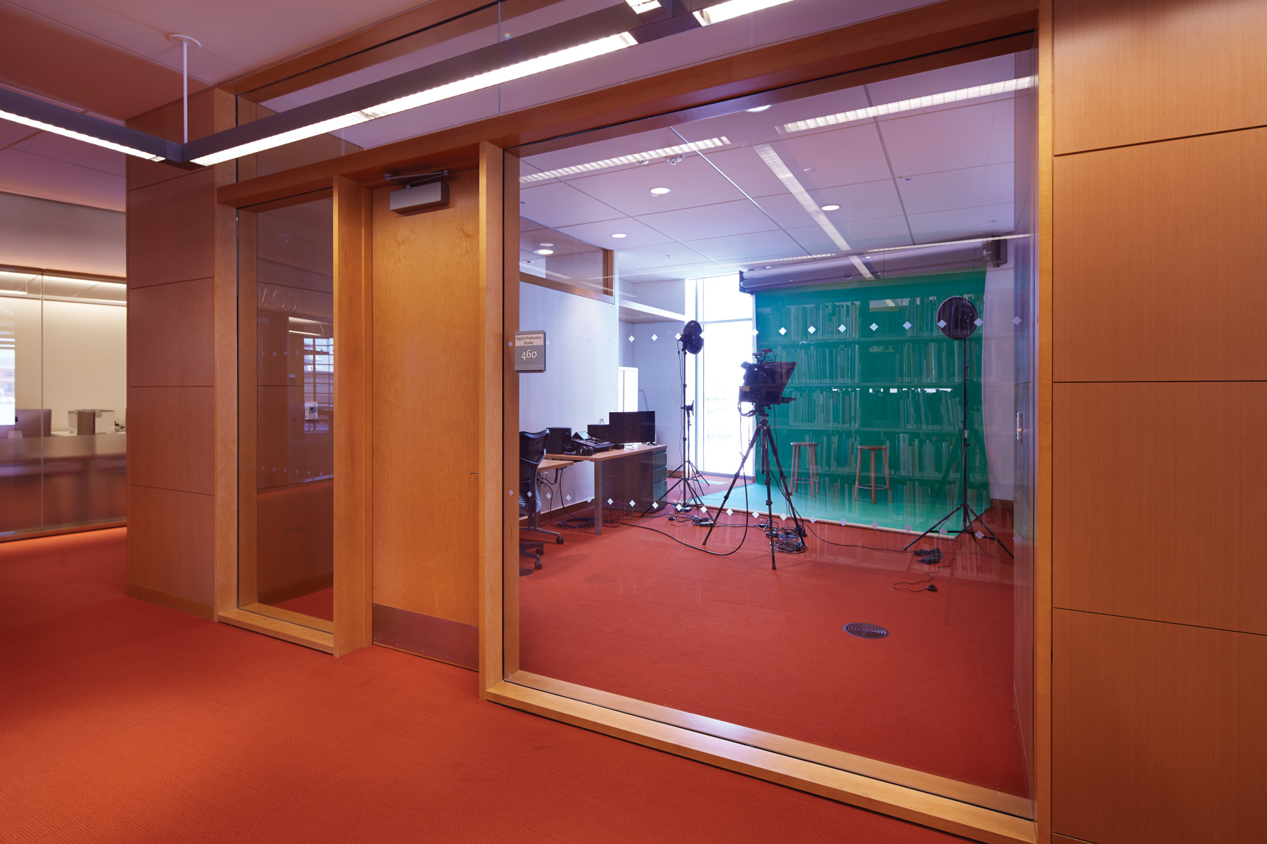 The digital production room uses technology to encourage creation.