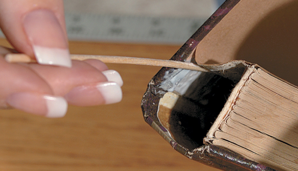 Use a mending stick dipped in Demco® Norbond™ Adhesive