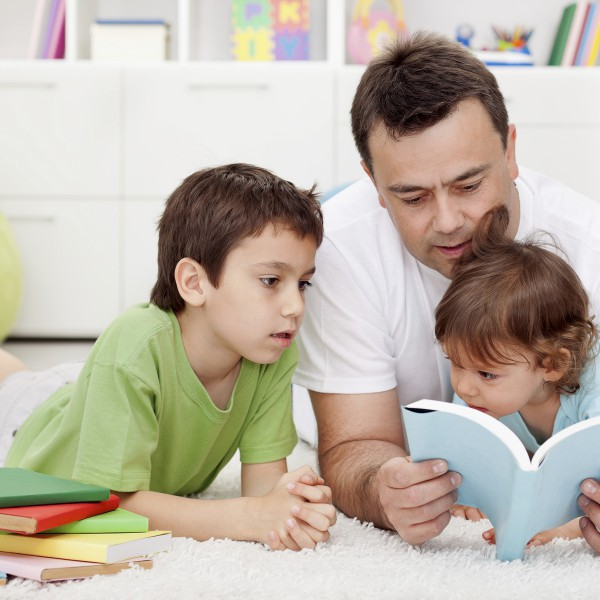 Family reading time.