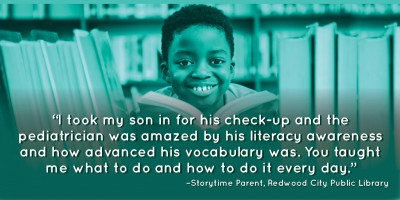 """I took my son in for his check-up and the pediatrician was amazed by his literacy awareness and how advanced his vocabulary was. You taught me what to do and how to do it every day."""
