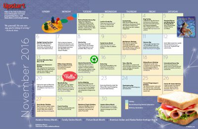 Children's Activity Calendar: November 2016