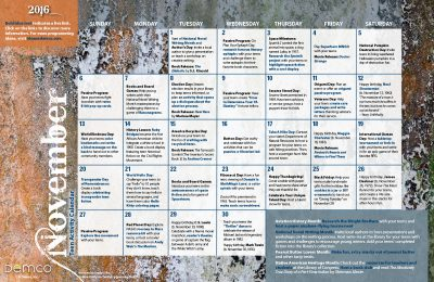 Teen Activity Calendar: November 2016