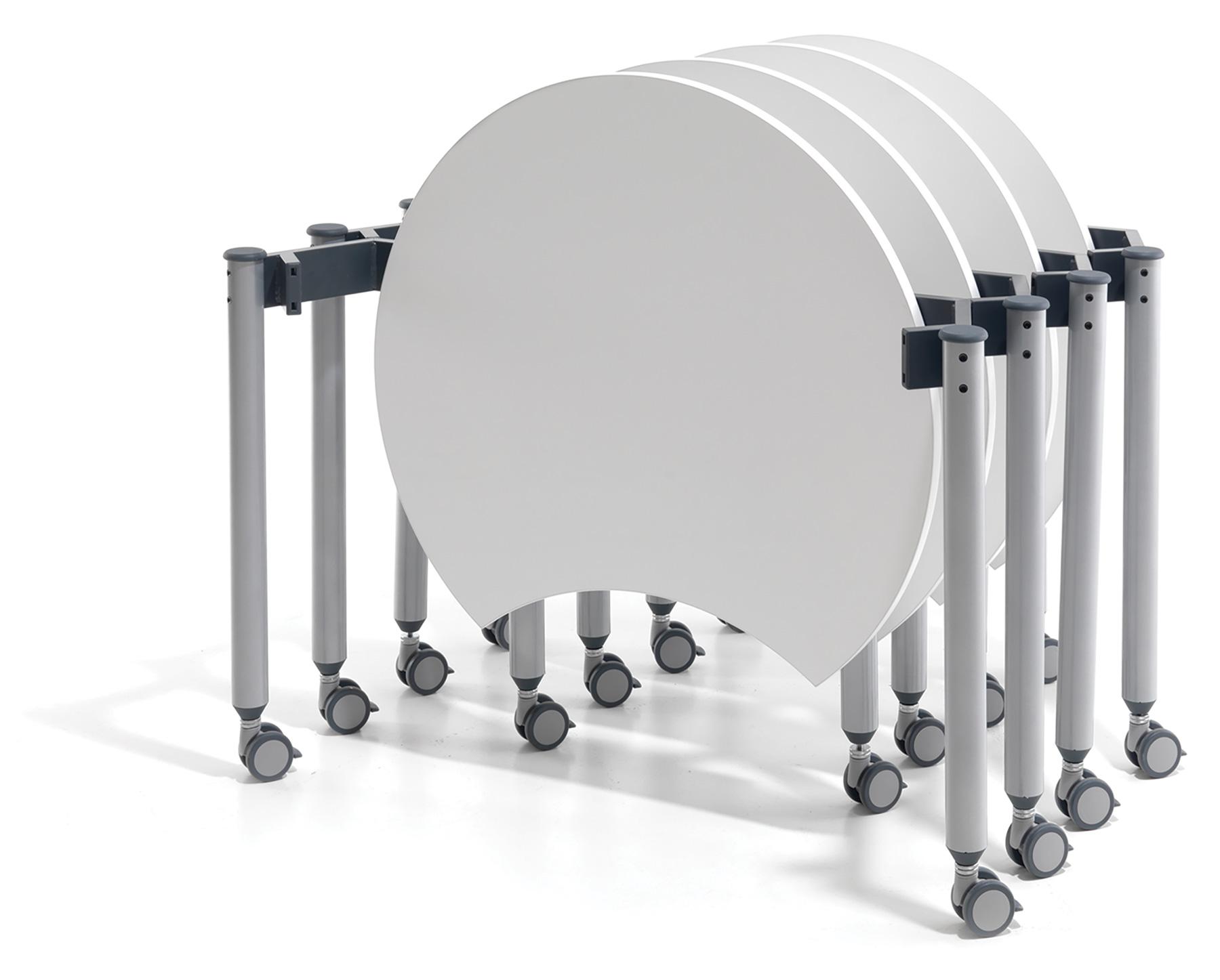 Muzo Kite Mini Mobile Flip Tables for Adaptable Library Spaces