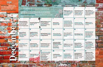 Teen Activity Calendar: December 2016
