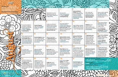 Teen Activity Calendar: August 2017