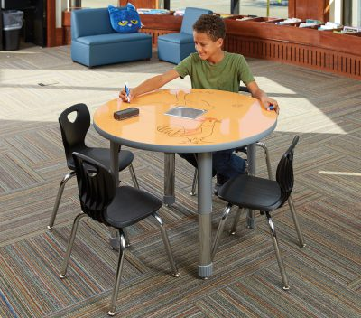 Allied™ Imagination Station Colorful Dry Erase Table —Round