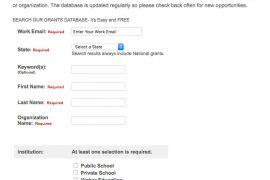 Grants database