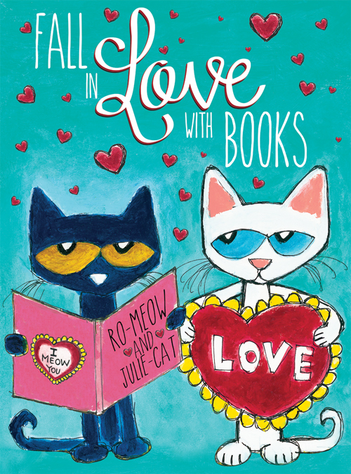 Pete the Cat Fall in Love WIth Books Poster