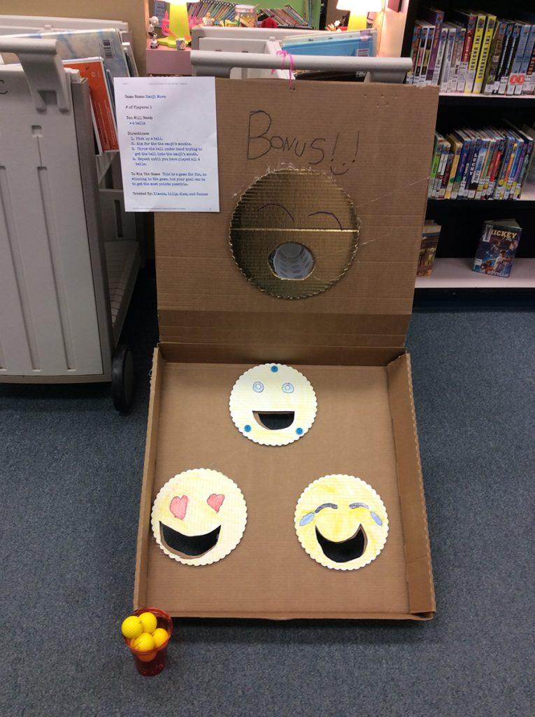 Student-crearted cardboard Arcade game.