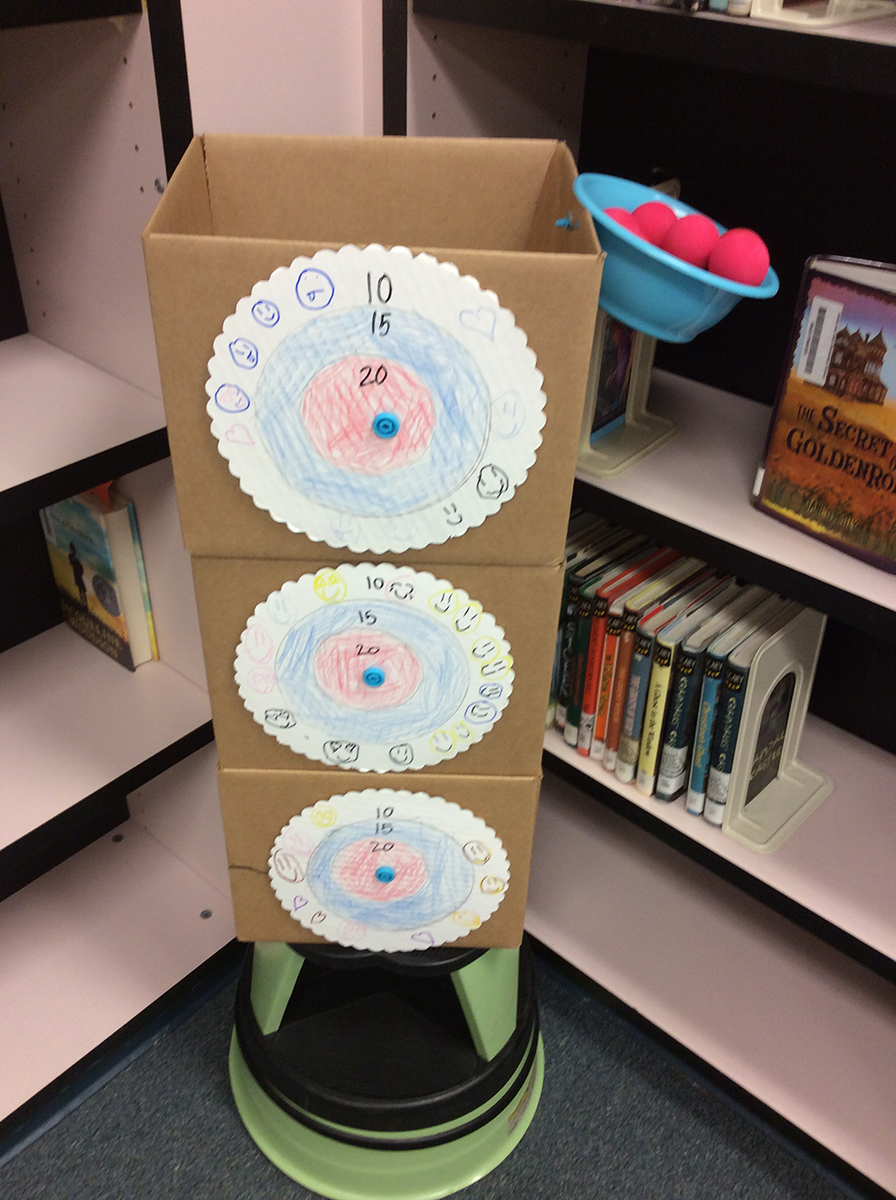 Student-created cardboard creation.