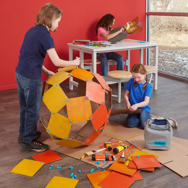 Makedo cardboard projects are an easy way to start a makerspace.