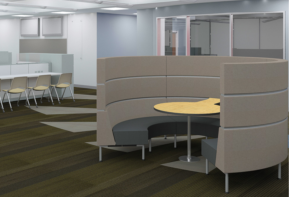 Palmer Hamilton Hive Collaboration Lounge Seating and Table