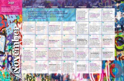 Teen Activity Calendar: November 2018