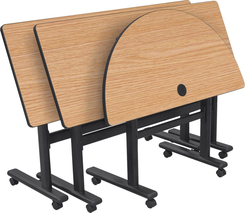 MooreCo™ Adjustable Sit/Stand Flipper Tables