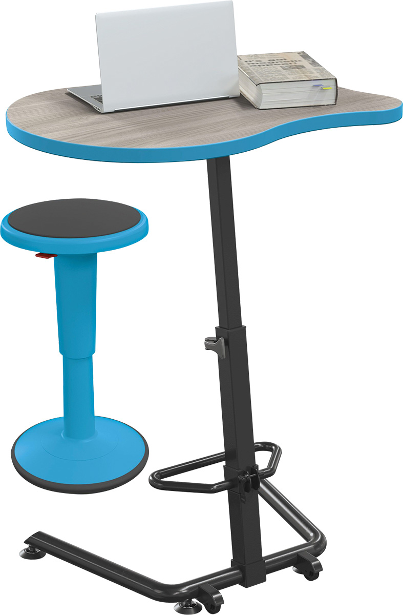 The MooreCo Up-Rite Fender Sit/Stand Desk for your active learning environment.