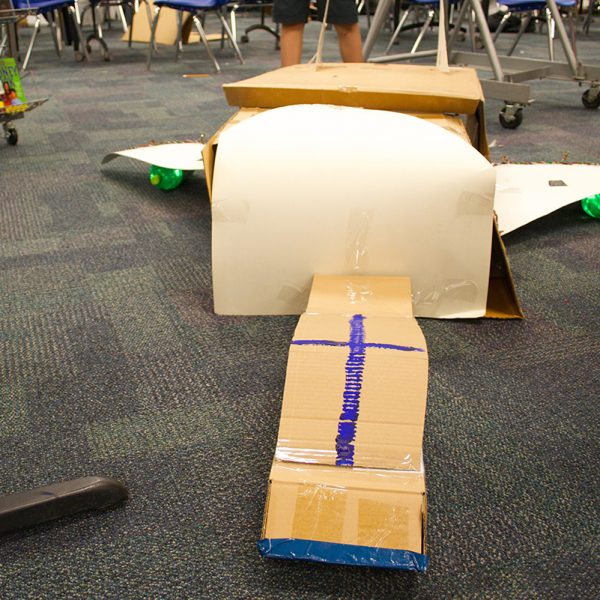 Cardboard spaceships rocket makerspace activities to new heights.