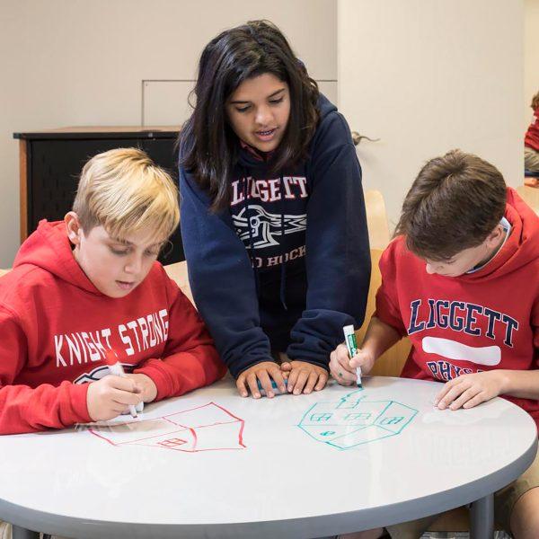 Kids using Dry-erase board