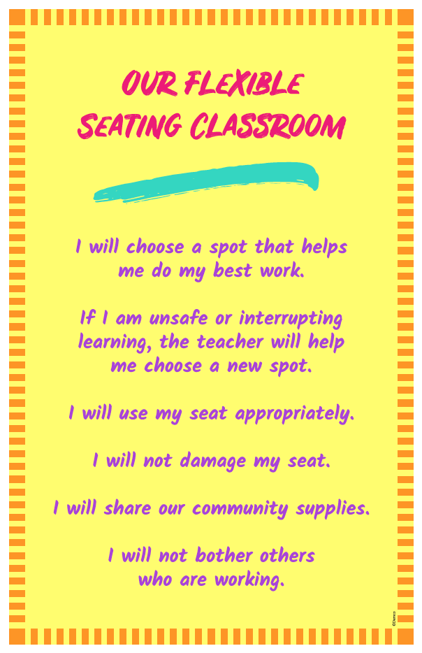 Flexible Seating Classroom Poster