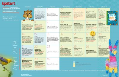 Children's Activity Calendar: April 2019