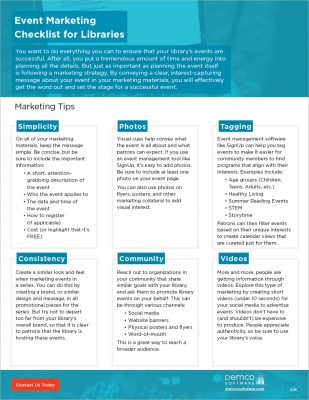 Event Marketing Checklist PDF