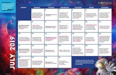 Teen Activity Calendar: July 2019