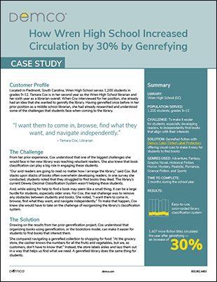 Wren High School Genrefication Case Study