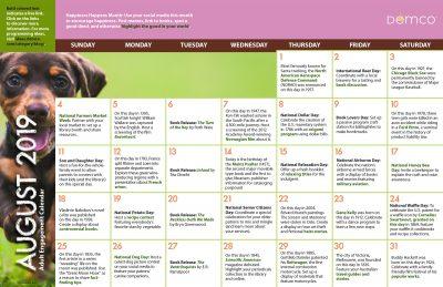 Adult Activity Calendar: August 2019