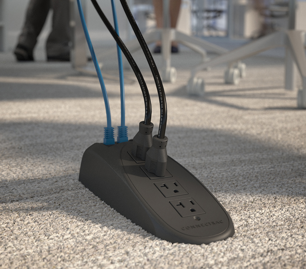 Connectrac® Under-Carpet Wireway