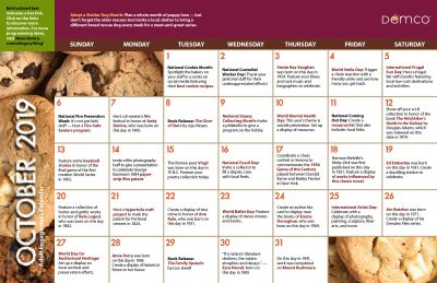 Adult Activity Calendar: October 2019