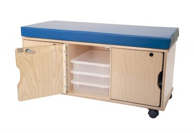 Demco Mobile Storage Benches — Locking Bench