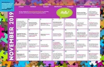 Teen Activity Calendar: November 2019