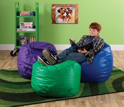 Colorful Overstuffed Bean Bag Chairs
