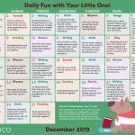 Early Literacy Activity Calendar: December 2019