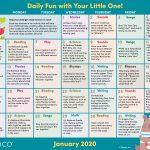 Early Literacy Activity Calendar: January 2020