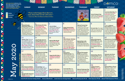 Children's Activity Calendar: May 2020