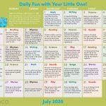 Early Literacy Activity Calendar: July 2020
