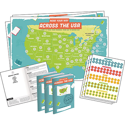 Demco® Upstart® Read Your Way Across the USA Literary Scavenger Hunt Kit