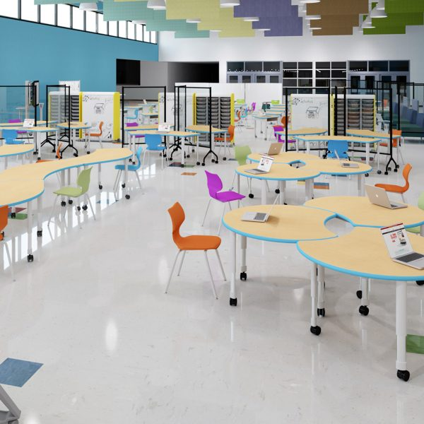 School Spaces Designed for Social Distancing - Cafeteria