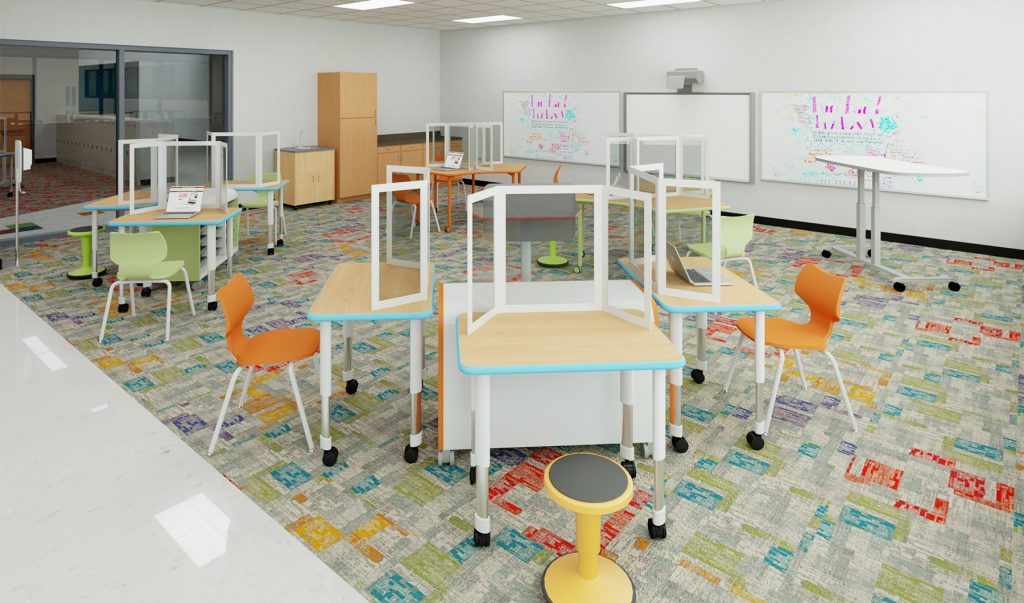 School Spaces Designed for Social Distancing