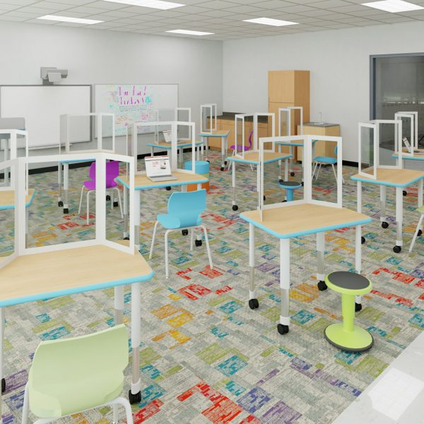 School Spaces Designed for Social Distancing - Classroom