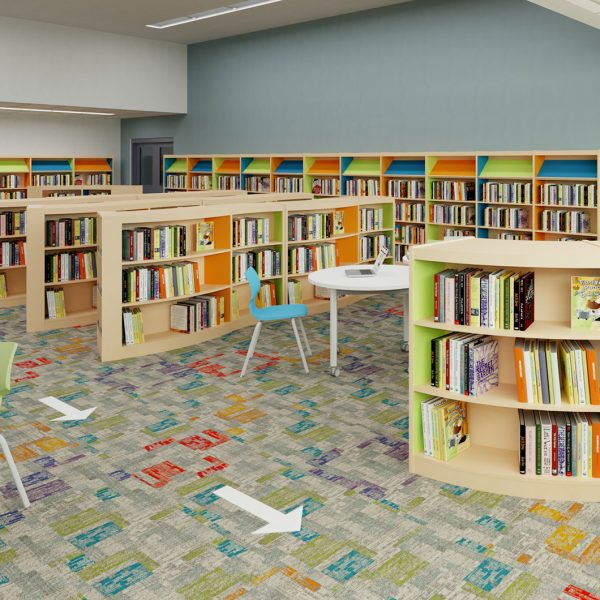 School Spaces Designed for Social Distancing - Library