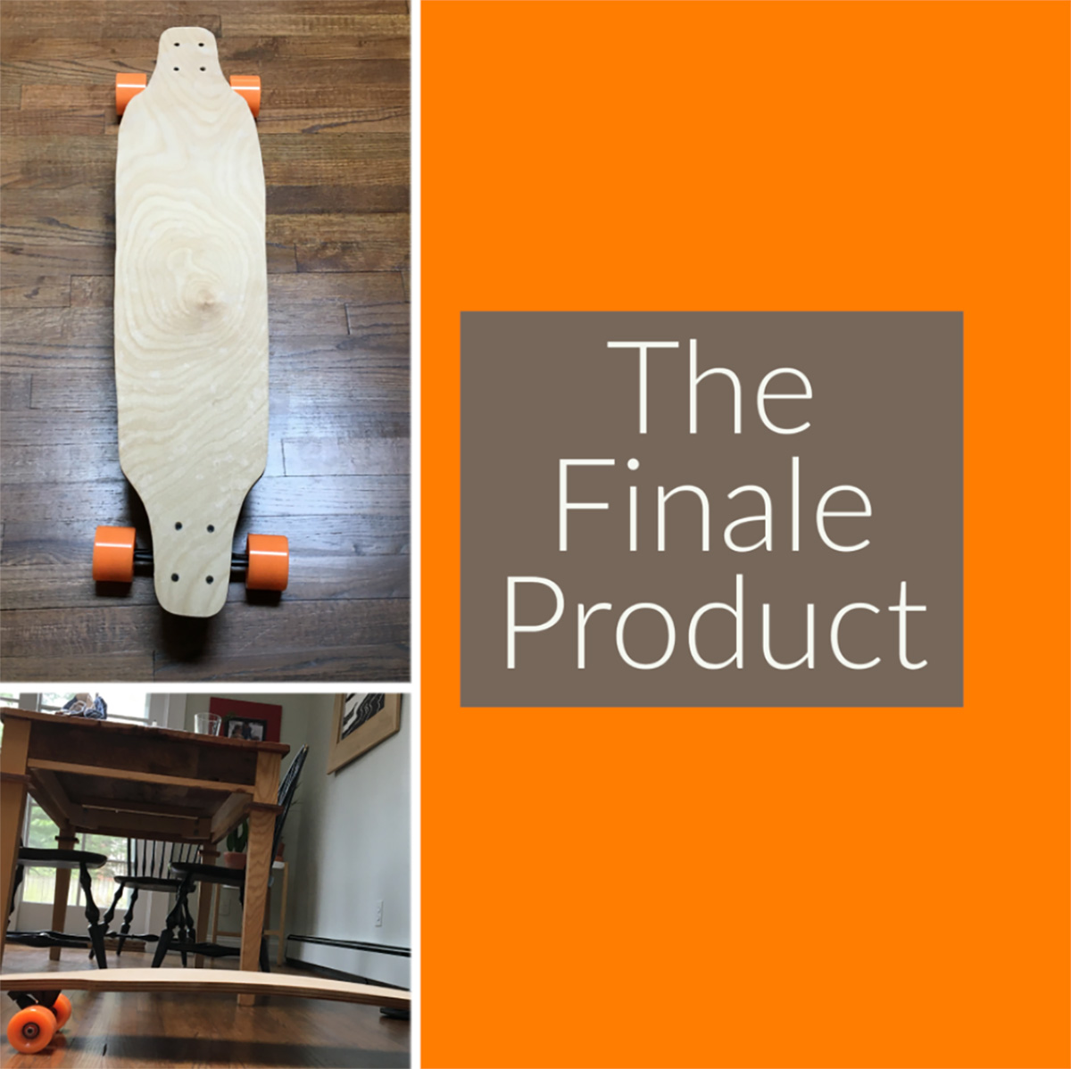 Student's completed Longboard