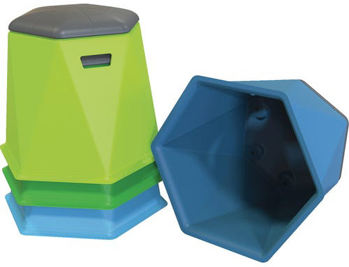 Tenjam Hex Seating is designed to be used indoors or outdoors.