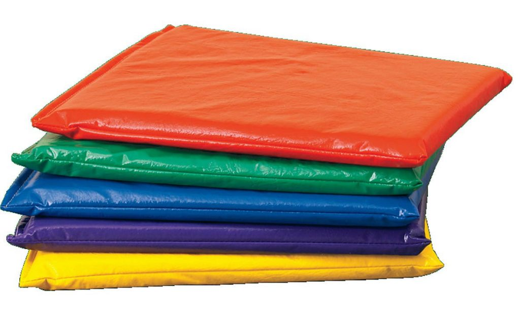 Floor cushions can be used outdoors and can be easily wiped down.