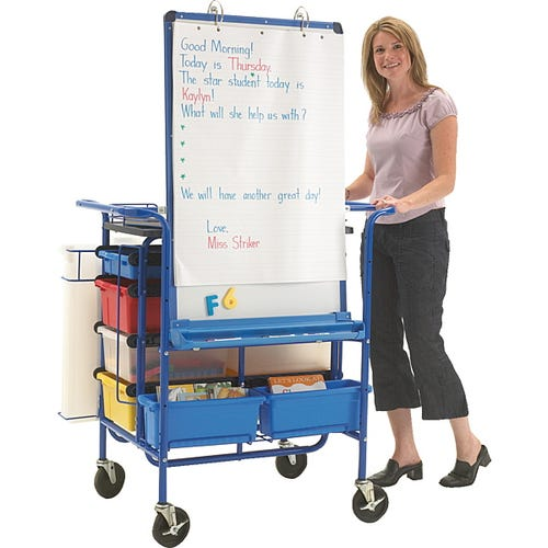 The Teach 'N' Go Cart allows you to take your supplies outside.
