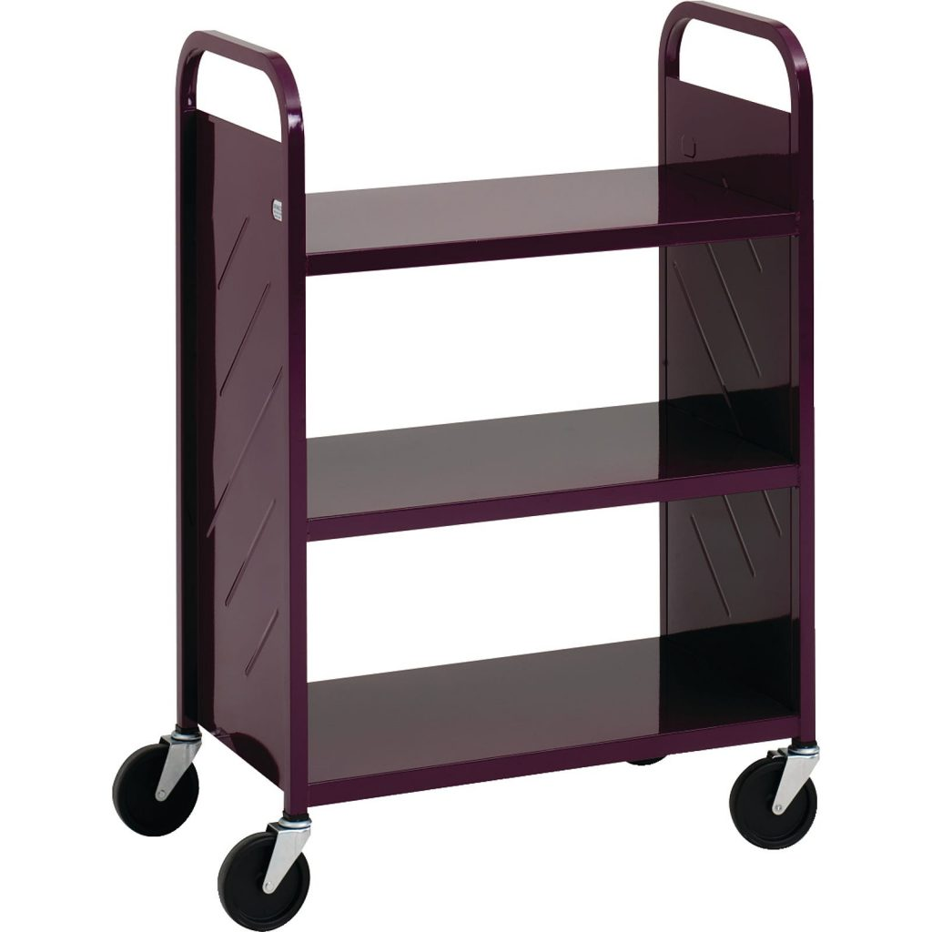 The Demco® LibraryQuiet™ 3 Flat Shelf Booktruck allows you to take your library supplies anywhere, inside or outside.