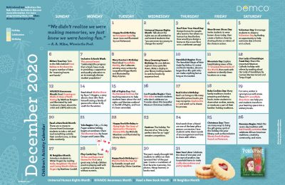 Children's Activity Calendar: December 2020