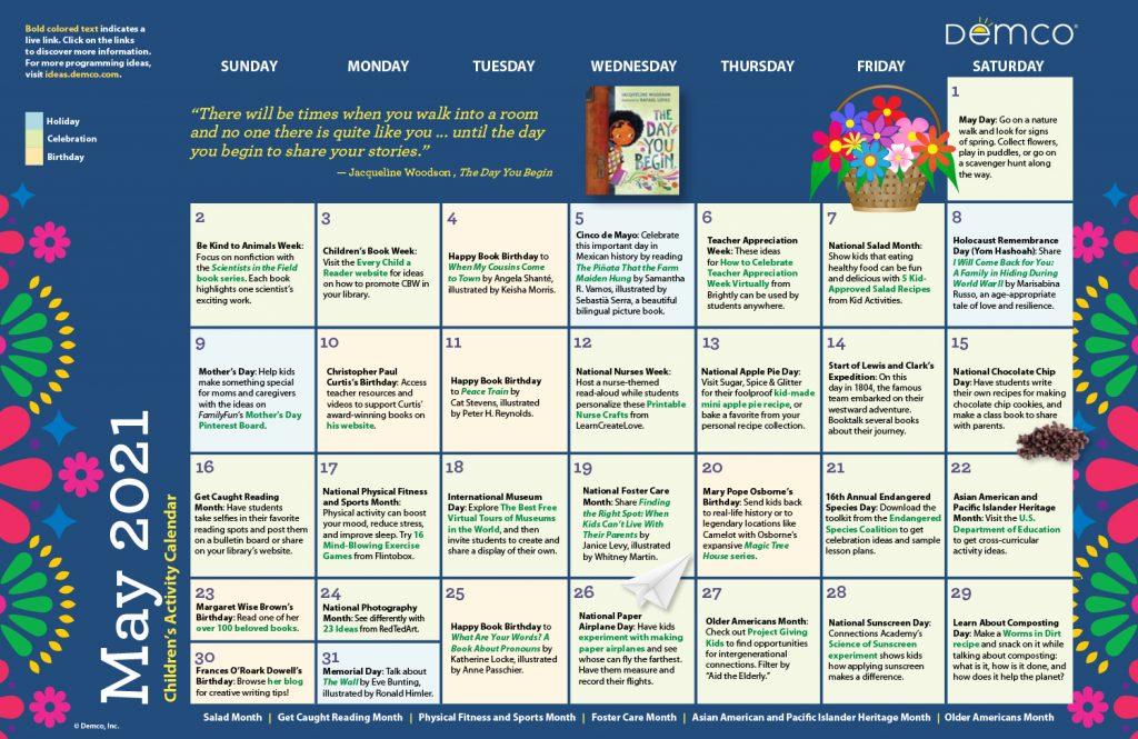 Children's Activity Calendar: May 2021